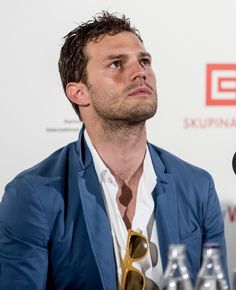 Holy gods and godesses he is perfect. Jamie Dornan, Anthropoid press conference…