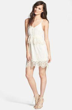 ASTR Ruffle Trim Lace Dress
