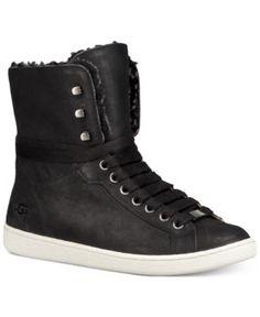 Ugg Women's Starlyn High-Top Lace-Up Sneaker - Black 6