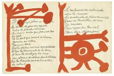 PABLO PICASSO Le Chant des Morts by Pierre Reverdy. Portfolio with 125 lithographs printed in red on cream wove paper, 1946-48. 430x330 mm. Total edition of 270. Printed by Mourlot, Paris. Published by Tériade for Éditions Verve, Paris.