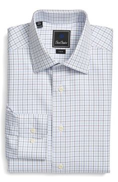cd3f51558 David Donahue Trim Fit Check Dress Shirt available at #Nordstrom Fitted Dress  Shirts, Shirt