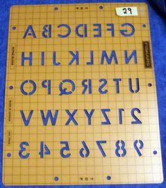 Fiskars Shapeboss 2 piece ALPHA BLOCK (alphabet)  -Canada Templates    #29 TE11*
