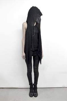 Image of Ancient Linen Hooded Vest