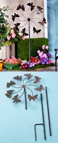 Windmills And Wind Spinners 115772: Garden Wind Spinner Yard Décor Windmill  Outdoor Metal Stake Kinetic Dual Lawn  U003e BUY IT NOW ONLY: $52.95 On EBau2026