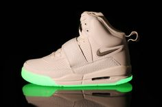 Glow In The Dark Nike Air Yeezy White Shoes