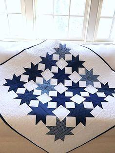 Quilt Pattern PDF Spring Table Runner Star Quilt Pattern Wall Hanging Easter Quilt Patriotic Quilt Pattern Beginner Easy Scrappy Download