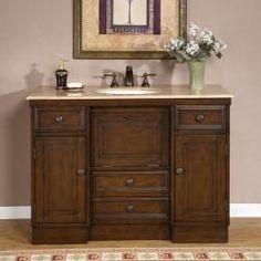 bathroom sinks and countertops | ... 48-inch Countertop Single Sink Bathroom Vanity Cabinet | Overstock.com