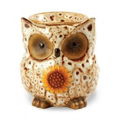 AmbiEscents Owl Spotted White Fragrance Wax Warmer