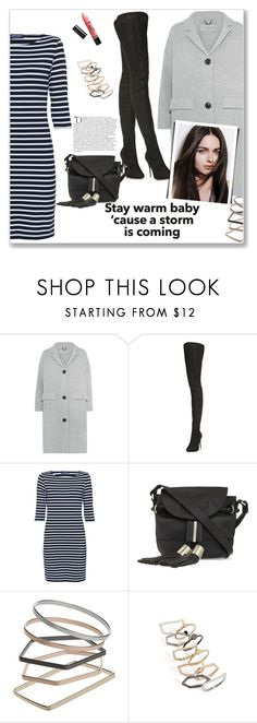 """""""Stay Warm...."""" by christinacastro830 ❤ liked on Polyvore featuring Burberry, Maison Margiela, Saint James, See by Chloé, Topshop, Barry M, Balmain, women's clothing, women's fashion and women"""