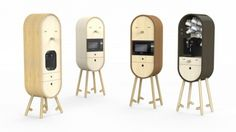 """Designers Tanya Repina and Misha Repin reveals """"LO-LO"""", a capsular microkitchen. The different furniture's modules can accommodate a wide collection of kitchen objects which, once stored, are identifiable and easily available."""