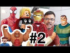 Lego #2 Brinquedos Homem Areia Homem Aranha   Thor Hulk Quarteto Fantást...