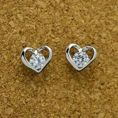 💕 Silver Heart Studs  https://damselcode.com/shop/silver-heart-stud-earrings/