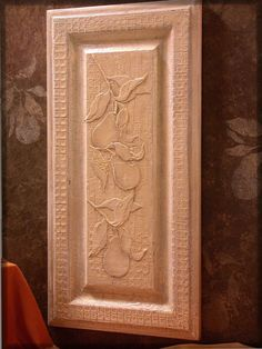 Wood Icing Texture Paste stenciled on cabinet door with Wood Icing Rusty Nails glaze over Chalk Paint. YES