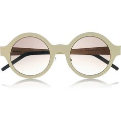 Illesteva Frieda round-frame steel sunglasses ❤ liked on Polyvore