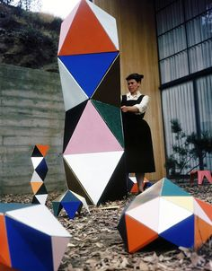 Ray Eames at work