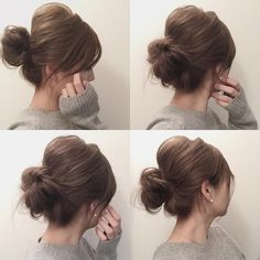 everyday hair for doing work around the house Short Hair Updo, Messy Hairstyles, Wedding Hairstyles, Short Hair Styles, Kids Hairstyle, Updo Tutorial, Hair Arrange, Hair Setting, Gorgeous Hair