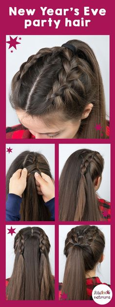Simple Hair Tutorials, - Haar-Tutorial einfach - Your HairStyle New Year's Eve Hair, New Year Hairstyle, Hairstyle Ideas, Hair Looks, Hair Trends, Hair Inspiration, Cool Hairstyles, Wedding Hairstyles, Simple And Easy Hairstyles