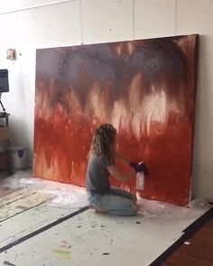 to with Iris Scott pre-toning a giant W… - Contemporary Art Diy Canvas Art, Abstract Canvas, Large Canvas Paintings, Large Abstract Wall Art, Large Canvas Wall Art, Seascape Paintings, Diy Painting, Finger Painting, Watercolour Painting