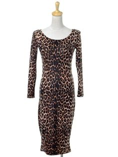 Anna-Kaci S/M Fit Brown Leopard Cheetah Print « Impulse Clothes