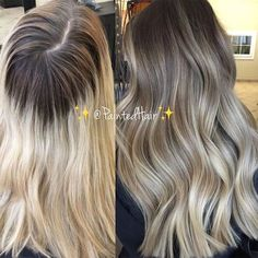 Blonde Roots, Blonde Hair With Highlights, Brown Blonde Hair, Blonde Ombre, Brunette Hair, Blonde Color, Growing Out Highlights, Dark Roots, Going Blonde To Brunette