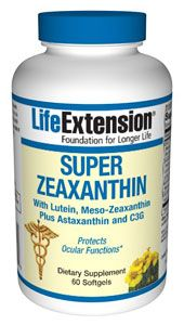 Super Zeaxanthin with Lutein, Meso-Zeaxanthin Plus Astaxanthin and C3G, 60 softgels