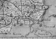 Canvey Island 1594 when it was a group of islands