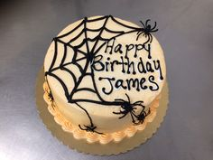 Decorated Spider Web Cake