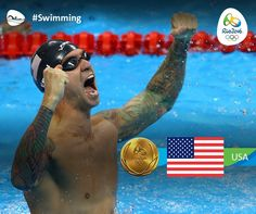 Anthony Ervin, 35, became the oldest swimmer to win gold in an individual event as he won the Men's 50m Freestyle final.