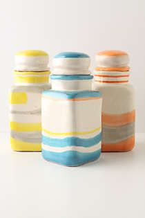 Anthropologie - Southwestern Striped Canister