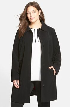 Gallery 'Napage' A-Line Coat with Removable Liner (Plus Size) available at #Nordstrom