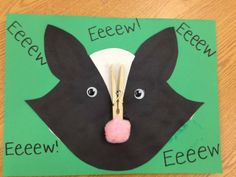 Skunk craft and practicing letter E - 'Eeeew'