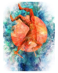 """Daredevil, Marvel 8"""" x 10"""" Colorful Art Print"""