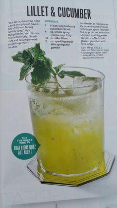 Lillet & cucumber cocktail