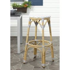 Shop for Safavieh Kipnuk Grey/ White Indoor Outdoor Stool. Get free shipping at Overstock.com - Your Online Furniture Outlet Store! Get 5% in rewards with Club O!