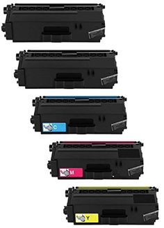 Prestige Cartridge Tn-326 Set Of 5 Compatible Laser Toner Cartridges For Brother Hl-l8250cdw Hl-l8250cdn Hl-l8350cdw Hl-l8350cdwt Dcp-l8400cdn Dcp-l8450cdw Mfc-l8600cdw Mfc-l8650cdw Mfc-l8850cdw