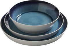 blue line dinnerware  | CB2
