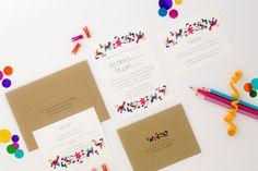 Hermosa boda invitación de la boda de invitaciones por JPstationery