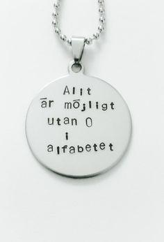 Allt är möjligt utan o i alfabetet