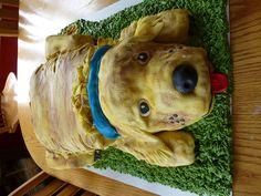 3D Golden Retriever cake