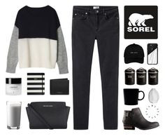 """Kick Up the Leaves (Stylishly) With SOREL: CONTEST ENTRY"" by alexis-belaruano ❤ liked on Polyvore featuring SOREL, Acne Studios, Casetify, Typhoon, Michael Kors, iittala, MICHAEL Michael Kors, Kate Spade, Paul Frank and CB2"