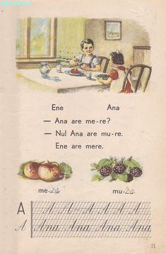 Abecedar 1959 – Un zâmbet de copil… Vintage School, Kids Education, Book Illustration, My Childhood, Vintage World Maps, Nostalgia, 21st, Parenting, Activities