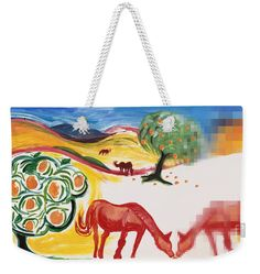 Big, oversized tote bag for the beach, picnics, diaper bag and more. The art is from a painting I did for the SFMuni Art Contest Great for Valentine's Day or a fun gift for horse lovers. Weekender Tote, Tote Bag, Valentine Day Gifts, Valentines, Gifts For Horse Lovers, Red Art, Great Christmas Gifts, Basic Colors, Bag Sale