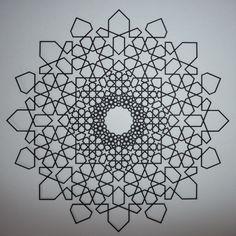 Islamic Fractal Star - Outlined Version - Phil Webster Design  #math #geometry #islamic