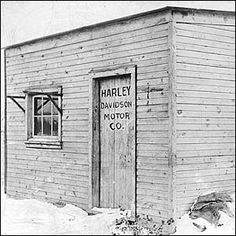 The shed where the first Harley Davidson was made.