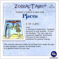 Zodiac Tarot for December 20: Pisces <br>  http://ifate.com