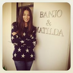 @Jessica Gomes at our Paddington Boutique wearing the Star Crew in Navy