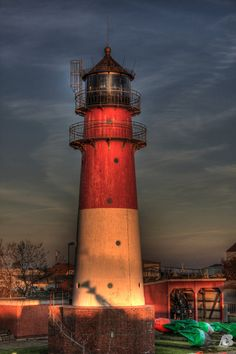 buesum lighthouse by indianrain
