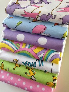 Dr Seuss Oh the Places You'll Go quilt or craft fabric bundle by Robert Kaufman- 1/2 Yard Bundle plus panel on Etsy, $36.75