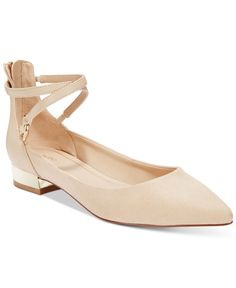 The classic pointed-toe silhouette gets dressed up with the Biacci flats by Aldo, featuring a crisscross strap that wraps around your ankle and a gold-tone metal detail at the heel. | Manmade/fabric u