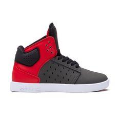 Supra - Kids Atom - Grey/Red - Footwear - Supra - For Rent Shoes - 1